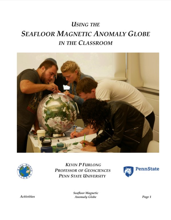Seafloor Magnetic Anomaly Globe Activities